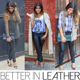 3 Ways To Rock {Faux} Leather Pants For A Night Out