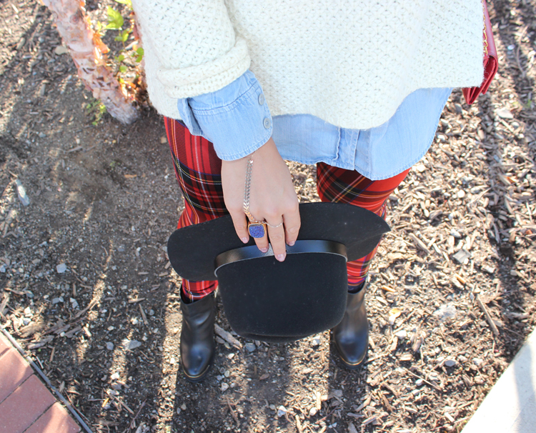 Fall Details Black Hat and Black TopShop Ankle Boots Tiffany Pinero Style