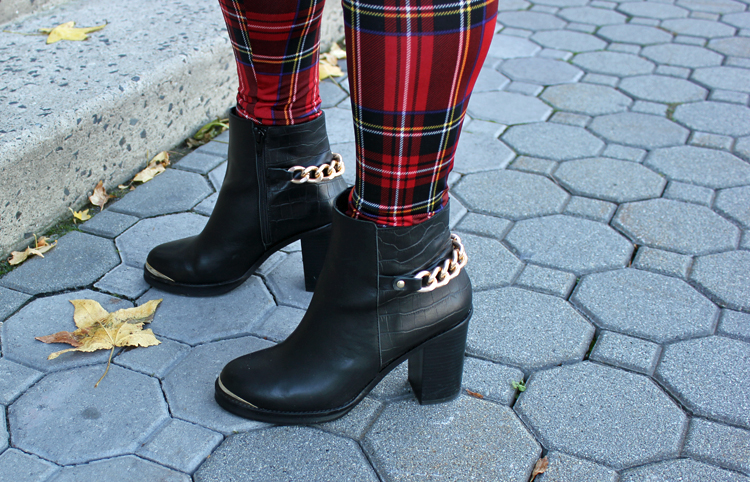 Fall booties with plaid Tiffany Pinero Style
