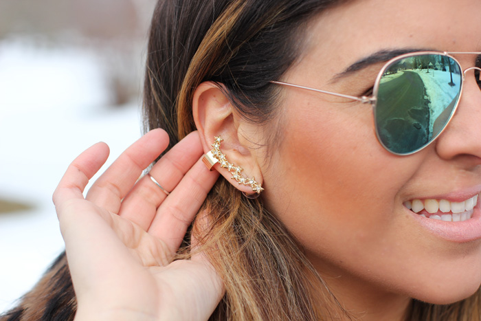 Ear Cuff Ear Climber Shooting Star Earrings Aaraa Hoboken