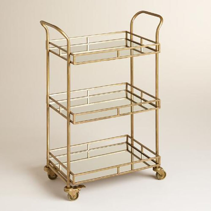 Home Styling Affordable Bar Cart Chic Fashion Stylist TIffany Pinero