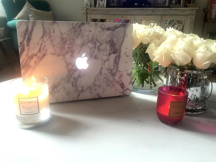Marble Mac Book Skin Fashion Blogger Tiffany Pinero