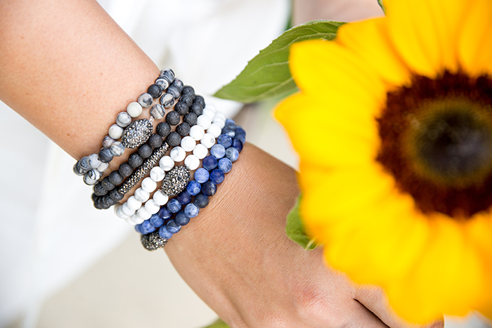 Summer-Style-Stretch-Beaded-Bracelets-by-Aaraa-Accessories-Sunflowers